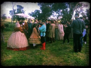 On set The Legend Of Ben Hall